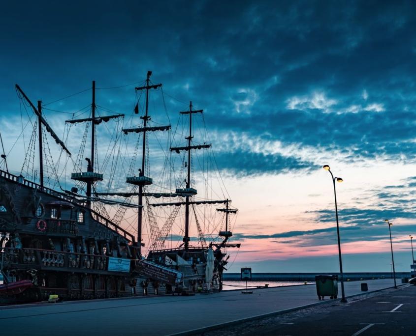 galeone al porto