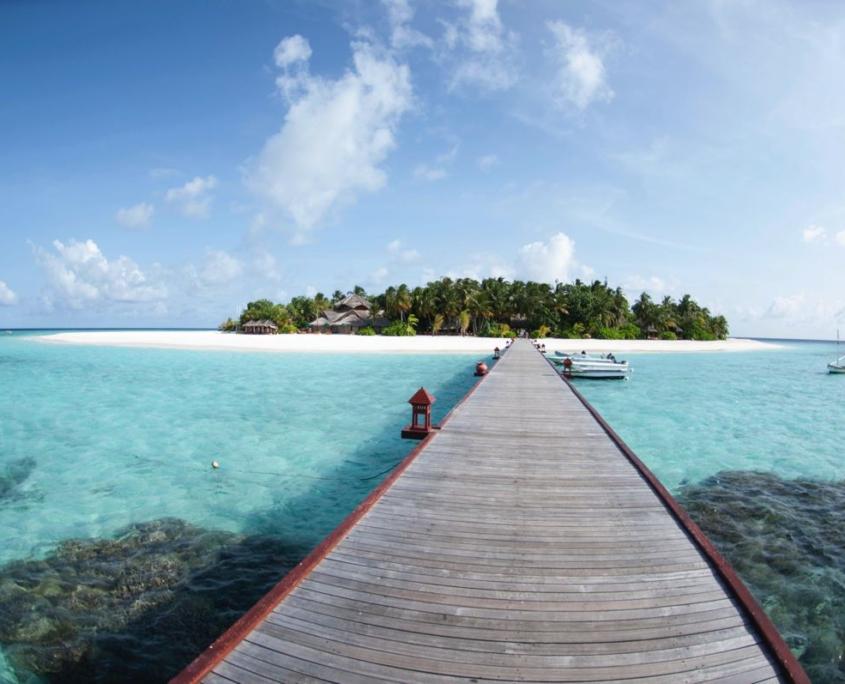 pontile isola oceano indiano