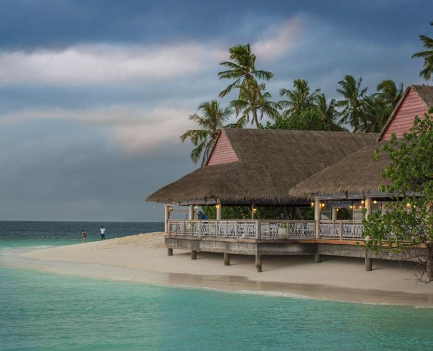 villaggio sulla spiaggia Oceano Indiano