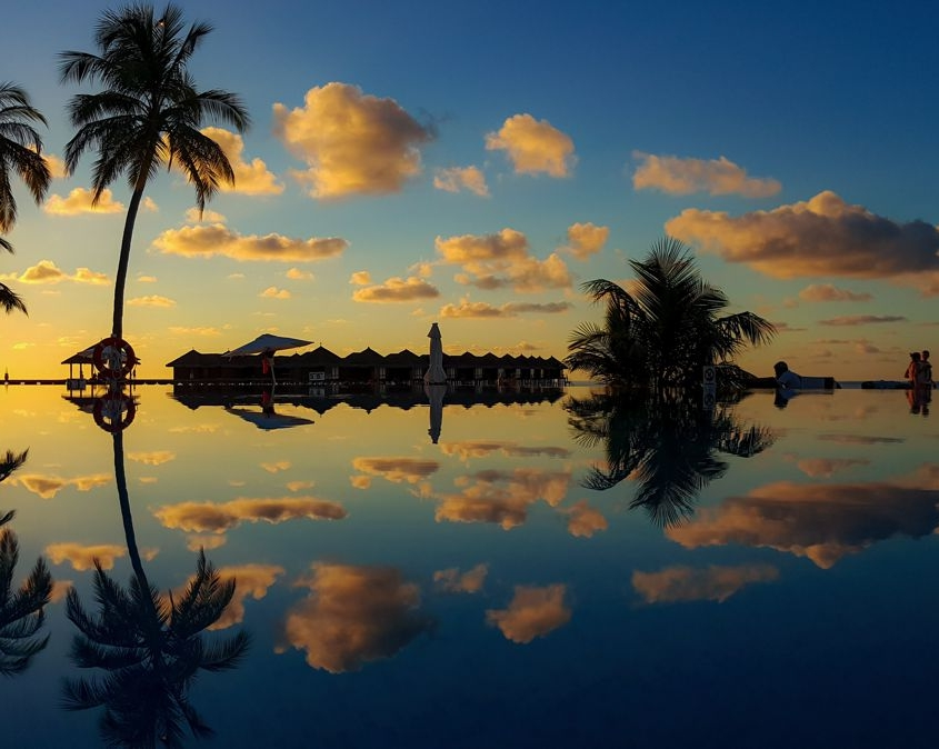 villaggio sul mare Oceano Indiano